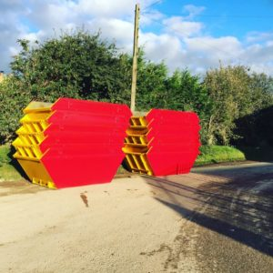 Skips On Side Of Road